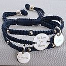 Personalised Friendship And Silver Charm Bracelet
