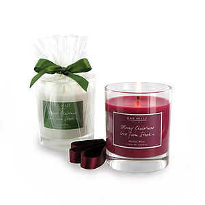 Personalised Christmas Candle - gifts for grandparents