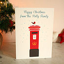Personalised Post Box Christmas Cards