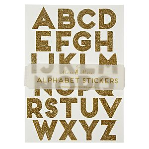 Glitter Alphabet Stickers Set   250 Letters - decorative accessories