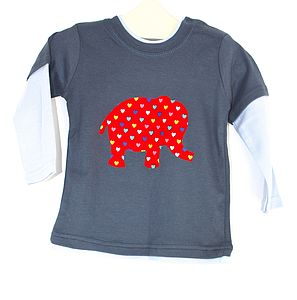 Baby Elephant Long Sleeve Top