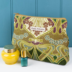 Make Up Bag Vintage Liberty Olive - make-up bags