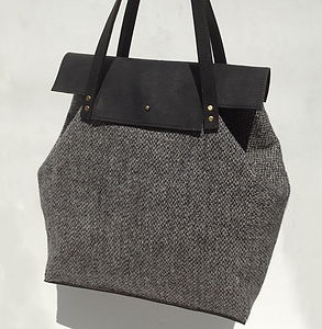 Handmade Harris Tweed And Leather Ada Bag - handbags