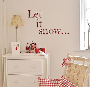 'Let It Snow…' Christmas Wall Sticker - decorative accessories
