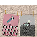 Set Of Two Pond Living Tea Towels