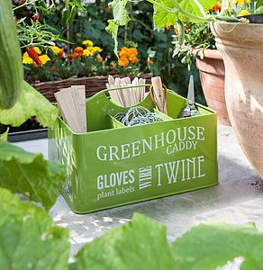Gardeners Greenhouse Caddy - garden essentials