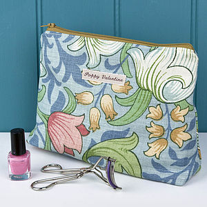 Make Up Bag William Morris Blue Lily - bags & purses