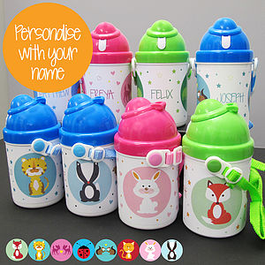 Personalised 'Animal' Drink/Water Bottle - tableware