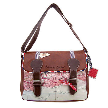 'Carte Postale' Satchel Bag