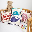all four cushion designs from Scamp Baby Gifts