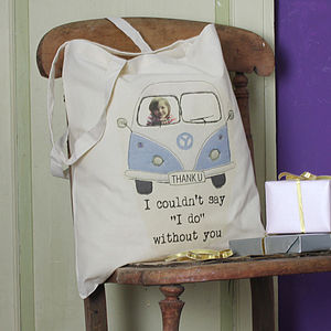 Personalised Bridesmaids' Tote Bags - wedding thank you gifts