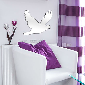 Flying Dove Shaped Mirror