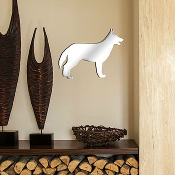 German Shepherd Shaped Mirror