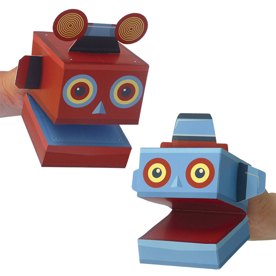 Create Your Own Robot Puppets Activity Kit By Clockwork