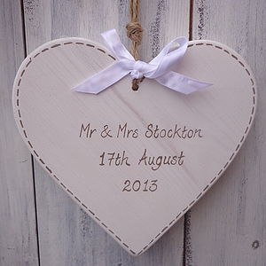 Personalised Rustic Wedding Heart - personalised wedding gifts