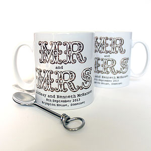 Personalised Wedding Mug - mugs