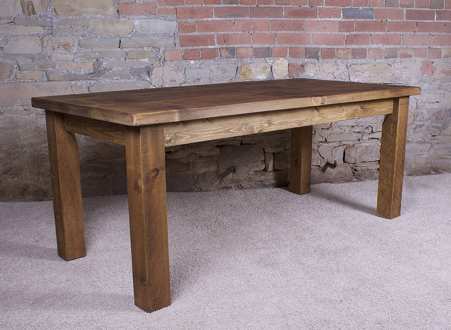 Solid wood dining table by h f Best wood for dining table