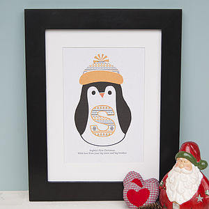 Baby's First Christmas Print - posters & prints