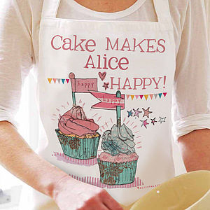 Personalised Happy Cake Apron - cooking & food preparation