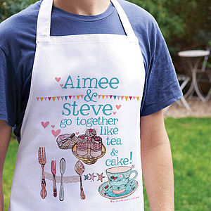 Personalised 'Go Together Like…' Apron - aprons