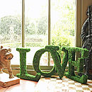 Moss Decorative Love Sign