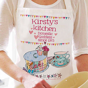 Personalised Domestic Goddess Apron - gifts under £25 for her