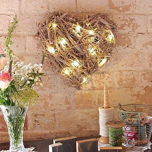 Hanging Root Heart With LED Lights - christmas home accessories