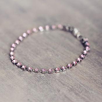 Pink Rhinestone Crystal Bracelet
