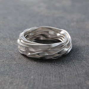 Sterling Silver Eternity Wrap Ring - rings
