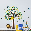 Bees, Birds And Lion Tree Wall Sticker