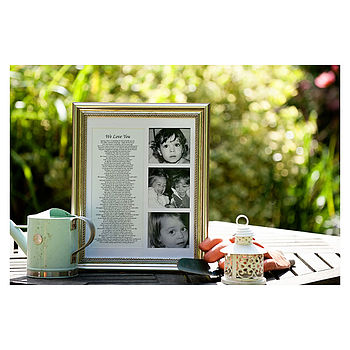 Personalised Poem With Photos In Frame