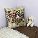 Vintage Fabric Cushion In Vintage Rose
