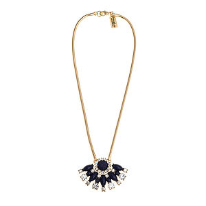 Calypso Navy Statement Necklace - statement necklaces