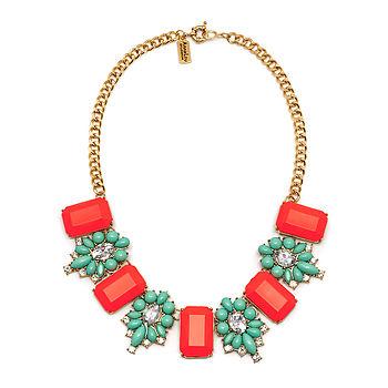 Pink And Turquoise Statement Necklace
