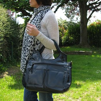 Small Leather Handbag Laptop Bag