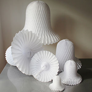 Paper Luxe Tissue Bell Honeycomb Decorations