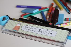 Personalised Children's Ruler - pens, pencils & cases