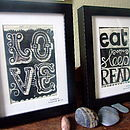 Jane Austen Framed Linoprint On Upcyled Book