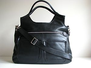 Large Leather Handbag Laptop Travel Bag