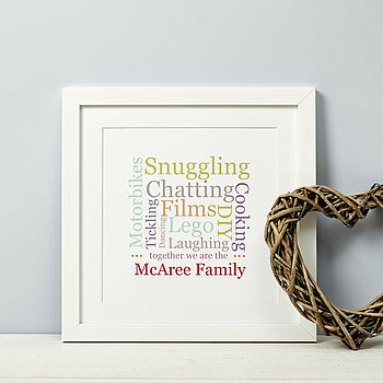 Personalised Family Typographic Print