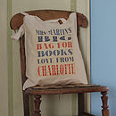 Personalised 'Big Bag For Books' Teacher's Tote Bag