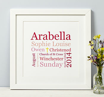Christening Or Baptism Print