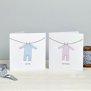 Personalised New Baby: Sleepsuit Card