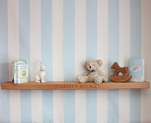 Personalised Nursery Oak Floating Shelf - children's room