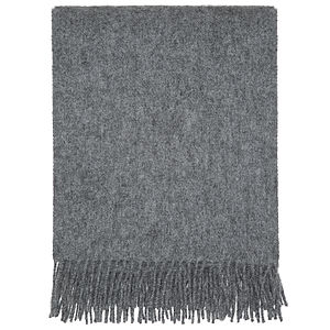 Plain Coloured Grey Throw - throws, blankets & fabric