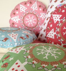Christmas Wreath Cushion - christmas home accessories