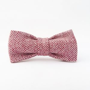 Boys Herringbone Tweed Bow Tie - christeningwear