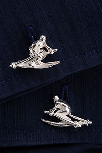 Skiier Cufflinks