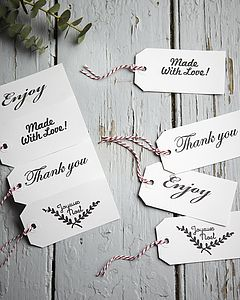Hand Stamped Mixed Christmas Gift Tags