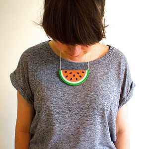 Watermelon Necklace - women's jewellery